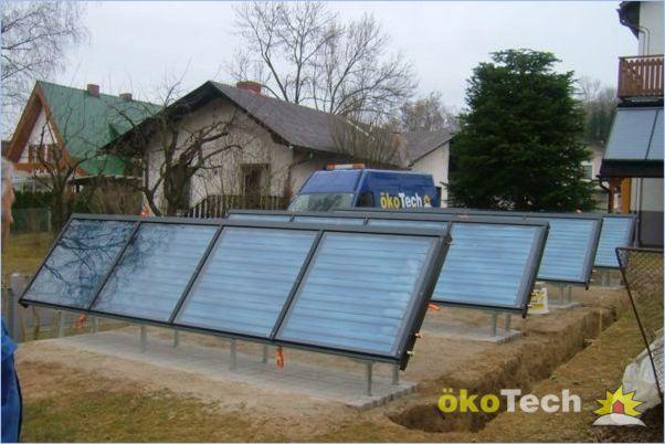 Okotech Solarkollektoren Frei Am Boden